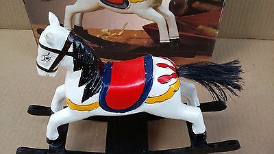 Collectible Vintage Wood Rocking Horse with Hair like Tail .... New in Box