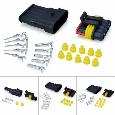 Lots Kits Electrical Waterproof Connector Plug 1 2 3 4 5 6 Pin Way Seal Car Auto