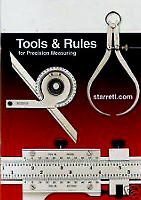 TOOLS & RULES * Starrett Handbook * BOOK +2 Starrett pocket charts*#3