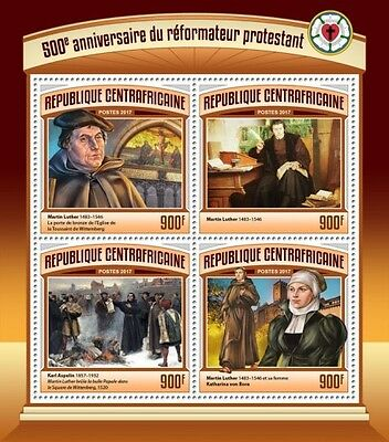 Z08 CA17113a CENTRAL AFRICA 2017 500 Years Reformation Martin Luther MNH Pfr