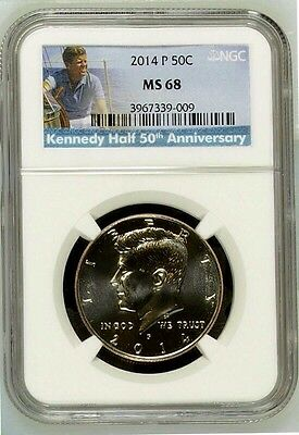 2014-P Kennedy 50Th Anniversary 50C Ngc Ms 68 Low Pop Special Label