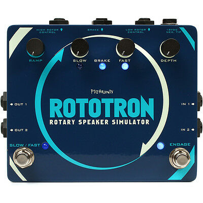 Pigtronix Rototron Analog Rotary Speaker Simulator Analog Guitar Effect FX Pedal