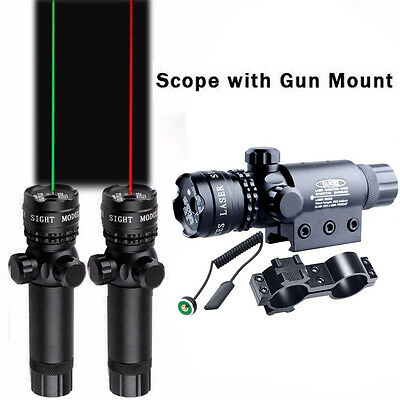 Powerful Red Green Laser Dot Sight Scope 5mW Beam Lazer Light 532nm Adjustable