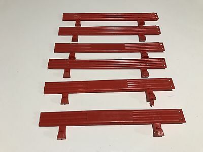 Used 1:32 Scalextric 6 x Red Fences In Very Good Condition