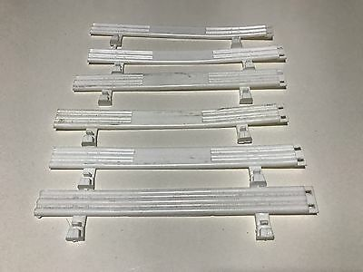 Used 1:32 Scalextric 6 x White Fences In Very Good Condition