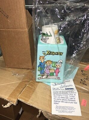 FLINTSTONES & THE JETSONS Hanna Barbera Dixie Cup Pop up Dispenser 1990 Vintage