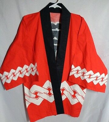 kimono robe red black kanji symbols xl extra large