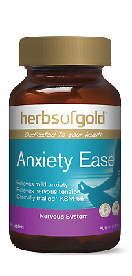 Herbs Of Gold ANXIETY EASE 60-Tablets, Relieves Nervous Tension *Aust Brand