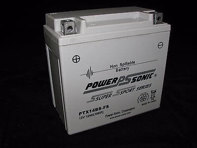Power-Sonic PTX14BS-FS 12V AGM (YTX14-BS) Motorcycle BATTERY