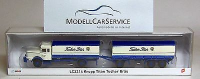 "Lemke 1:160 LC3314 Krupp South works Titanium Flatbed truck ""scarves-Bräu"