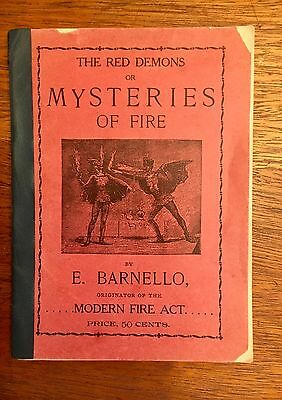 Red Demons or Mysteries Of Fire Eating, Barnello, 1893, Magic, Rare