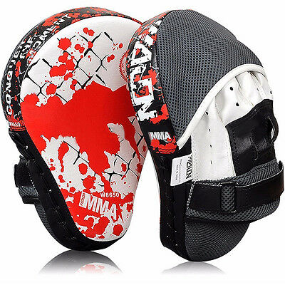 PU Leather Boxing Kick Hand Target Glove Punch Pad Focus MMA Muay Thai Training