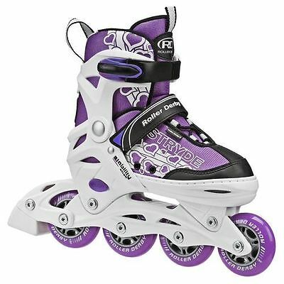 RDS Girls Stryde Adjustable Inline Roller Skates Blades US 2 - 5