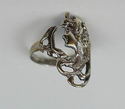 Jugendstil - Ring Messing versilbert um 1900 ring