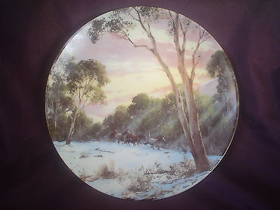 Bendigo Pottery Daybreak In The Alps Collector Plate By Kevin Best 1992
