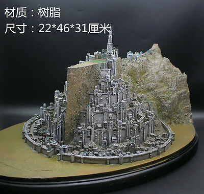 Lord-of-The-Rings-Minas-Tirith-Capital-of-Gondor-Model-Statue-Figure-NEW
