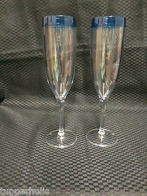 Tupperware Coastal Flutes - Set of 2 - BRAND NEW