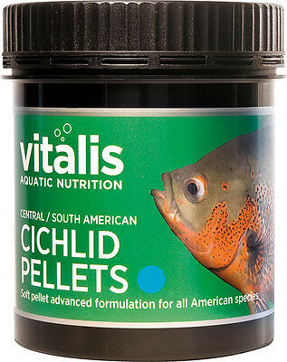 Vitalis Central South American Cichlid Pellets S 120g Fish Food 1.5mm