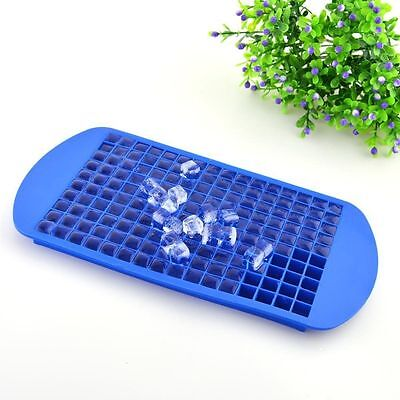 Practical 160 Ice Cubes Frozen Cube Bar Pudding Silicone Tray Mould Mold Tool