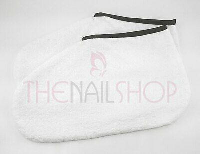 White Terry Towel Pedicure Booties for Spa Treatments (Pair)