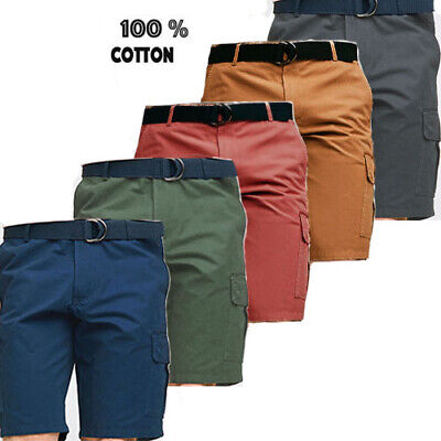 Mens Cargo Shorts Multi pockets Cotton Combat Half Pant Summer Casual BIG Size