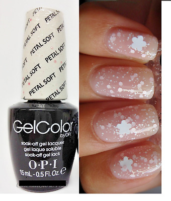 OPI GELCOLOR SOFT Shades PETAL SOFT White & Pink Flower Nail Polish ...