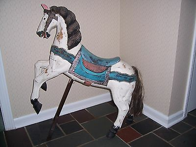 Vintage Hand Carved Carousel Horse  -  Guilford, Ct.