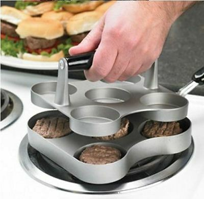 5 Slot Mini Burger Press Sliders Burger Maker & COOKER.. NO TURNING NECCESARY