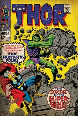 Marvel Comics Retro: The Mighty Thor Comic Book Cover No.142, Scourge of the