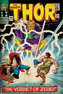 Marvel Comics Retro: The Mighty Thor Comic Book Cover No.129, The Verdict of
