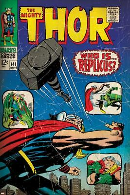 Marvel Comics Retro: The Mighty Thor Comic Book Cover No.141, Who is Replicus?
