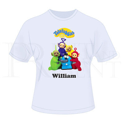 Personalised Childrens Teletubbies T-Shirt (White)