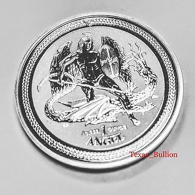 2016 Isle of Man Reverse Proof 1oz Angel .999 Silver Coin Free Air-tite