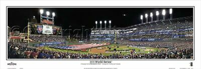 Cleveland Indians vs Chicago Cubs 2016 WS Unframed Panoramic Poster #2118
