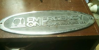 Large emergency one emblem for a fire truck or man cave