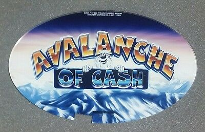 Atronic Slot Machine Topper Insert AVALANCHE OF CASH