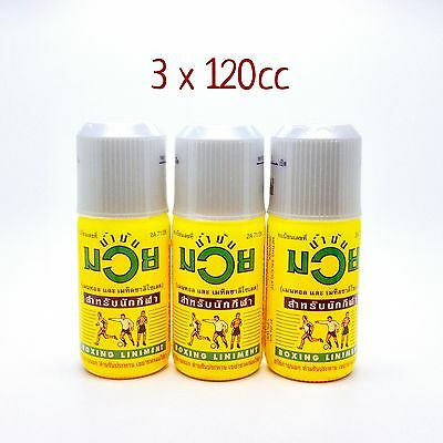 3 of 120 cc Namman Muay Oil Thai Boxing Oil Liniment Muscular Pain Relief