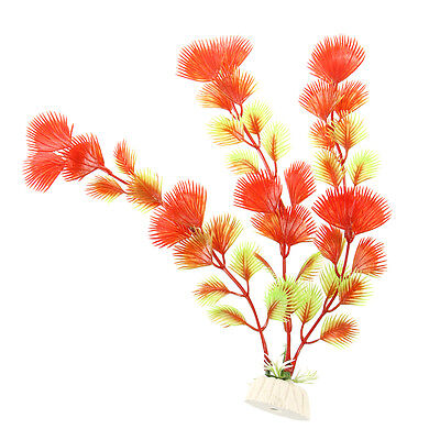AF Red + Green Artificial Water Plants for Fish Tank Plastic Decoration