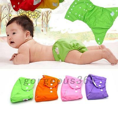 1Pcs Reusable Baby Nappy Cloth Diapers Soft Cover Washable Breathable Adjustable