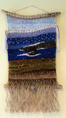 "Fiber Art Wall Hanging by Cambria Inspirations titled  ""The Bluff Walk"""