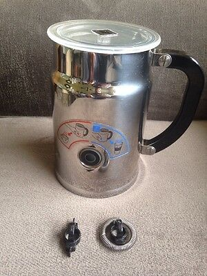 NESPRESSO Aeroccino 3193 Stainless Milk Frother With Parts As Shown