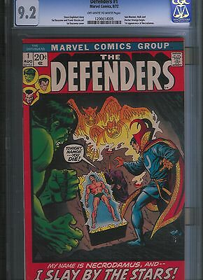 Defenders # 1 CGC 9.2 Off White to White Pages. UnRestored