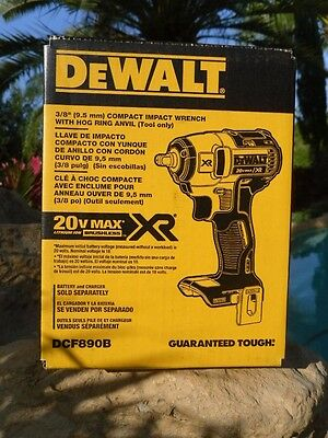 DEWALT 20V MAX XR 3/8 Impact Wrench 150 ftlbs DCF890B Brushless Bare Tool