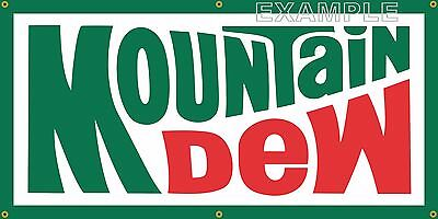 MOUNTAIN DEW OLD SCHOOL RETRO 1970's SIGN REMAKE BANNER SHOP GARAGE ART 2 X 4