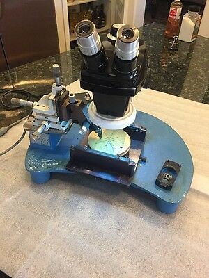 Rucker & Kolls Model 300 Manual Probing Station Base and B&L Microscope 0.7-3x
