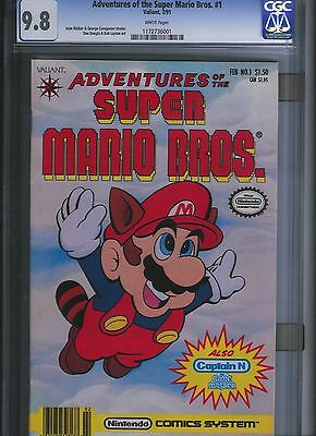 Adventures of the Super Mario Bros. # 1 CGC 9.8  White Pages. UnRestored