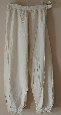 Antique Edwardian Victorian Bloomers Drawers Underwear Cotton Pantaloons