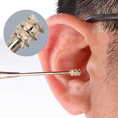 Ear Care Tool Cleaner EarPick Spiral Ear Pick Double Ended Stainless Steel