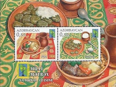 Z08 IMPERFORATED AZRB16114b AZERBAIJAN 2016 National cuisine MNH Mint