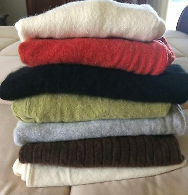 Crafters & Cutters 100% Cashmere Lot of 7 Sweaters 3.5+ lbs. Asst Colors/Brands